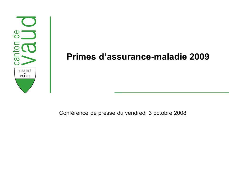 Conférence de presse du vendredi 3 octobre 2008 Primes dassurance-maladie 2009