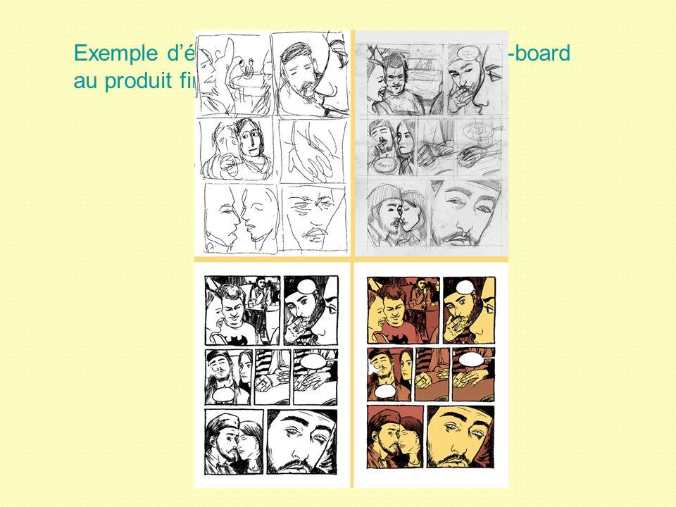 Exemple délaboration pour la BD : du story-board au produit fini !