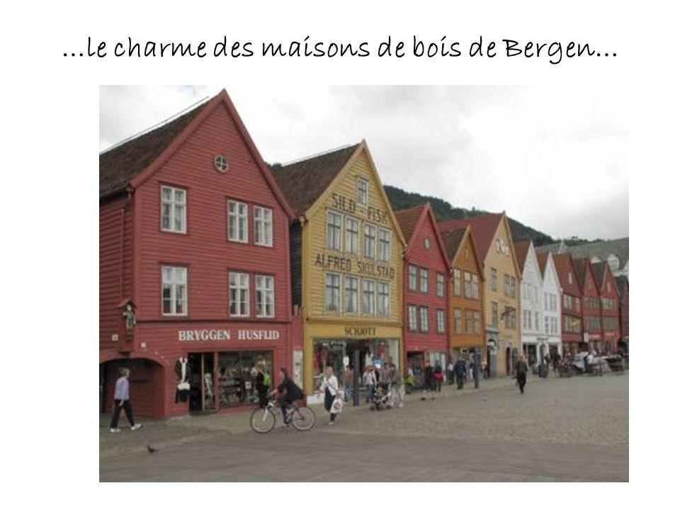 …le charme des maisons de bois de Bergen…