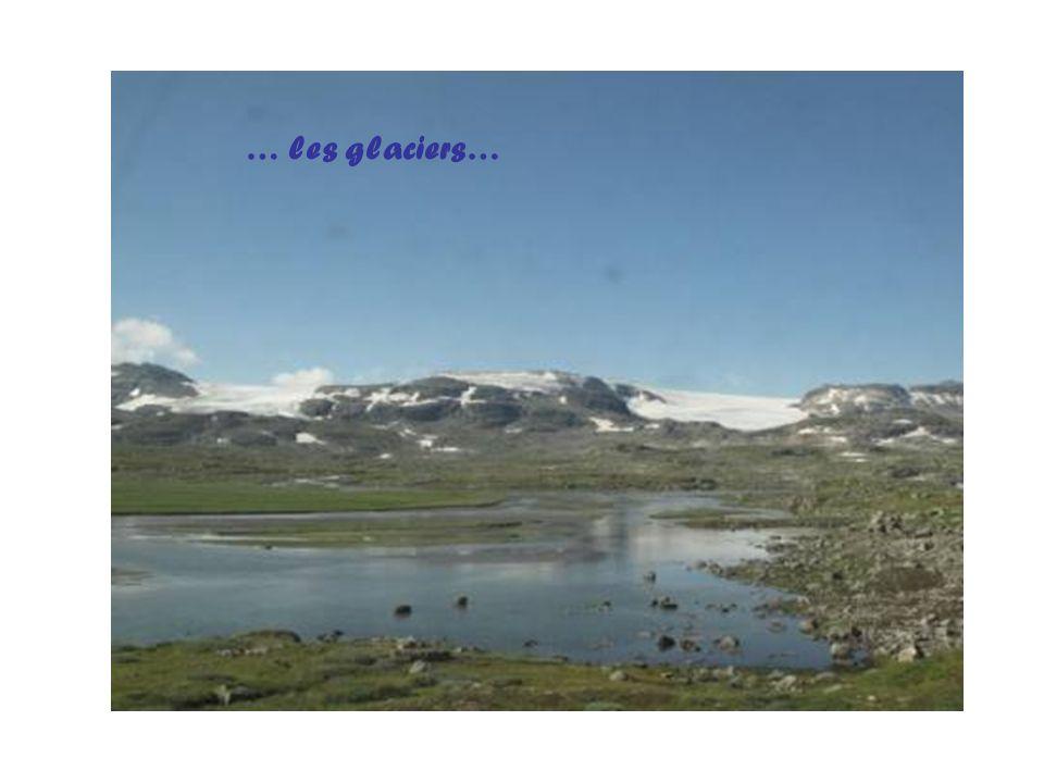 … les glaciers…