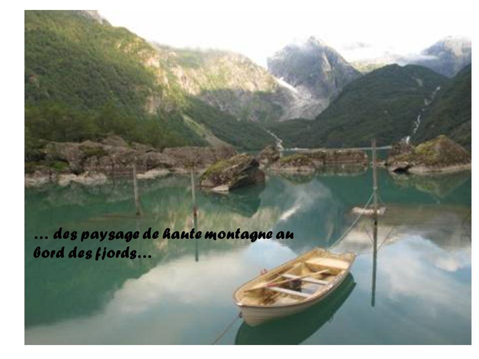 … des paysage de haute montagne au bord des fjords…
