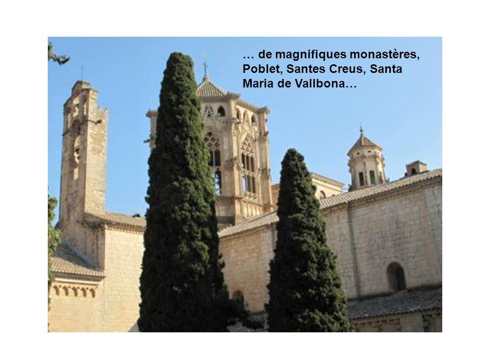 … de magnifiques monastères, Poblet, Santes Creus, Santa Maria de Vallbona…