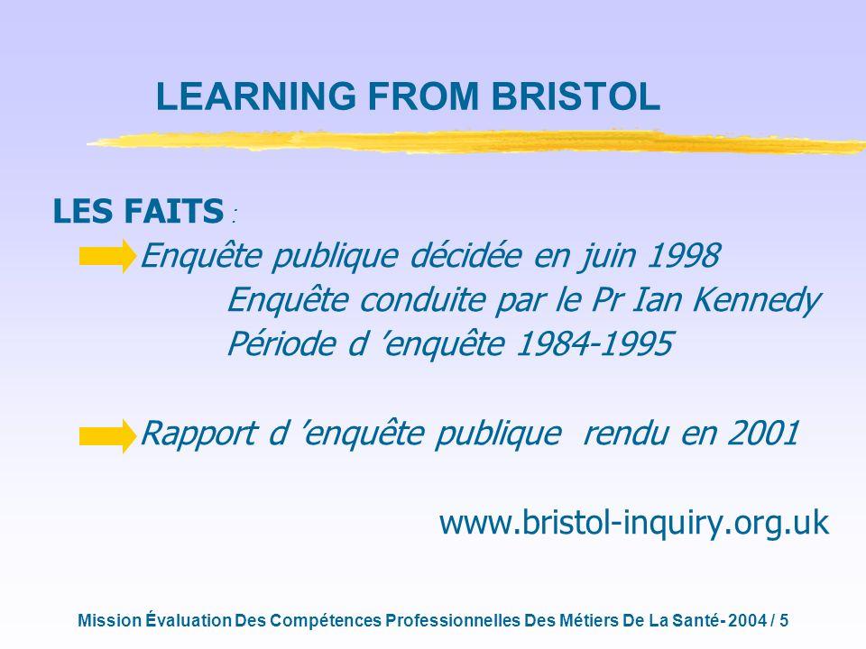 Mission Évaluation Des Compétences Professionnelles Des Métiers De La Santé- 2004 / 16 QUELLE MISE EN ŒUVRE DUN DISPOSITIF DÉVALUATION DES COMPÉTENCES .