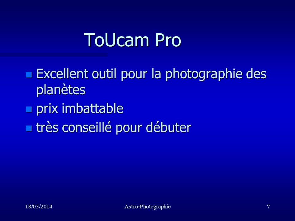 18/05/2014Astro-Photographie8 ST7E, ST10E Roue à filtre Caméra