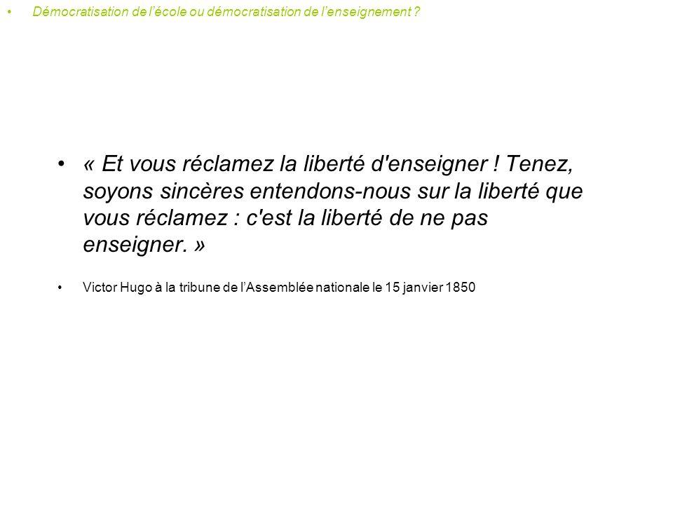 De Guizot à Ferry Démocratisation de lécole ou démocratisation de lenseignement ?