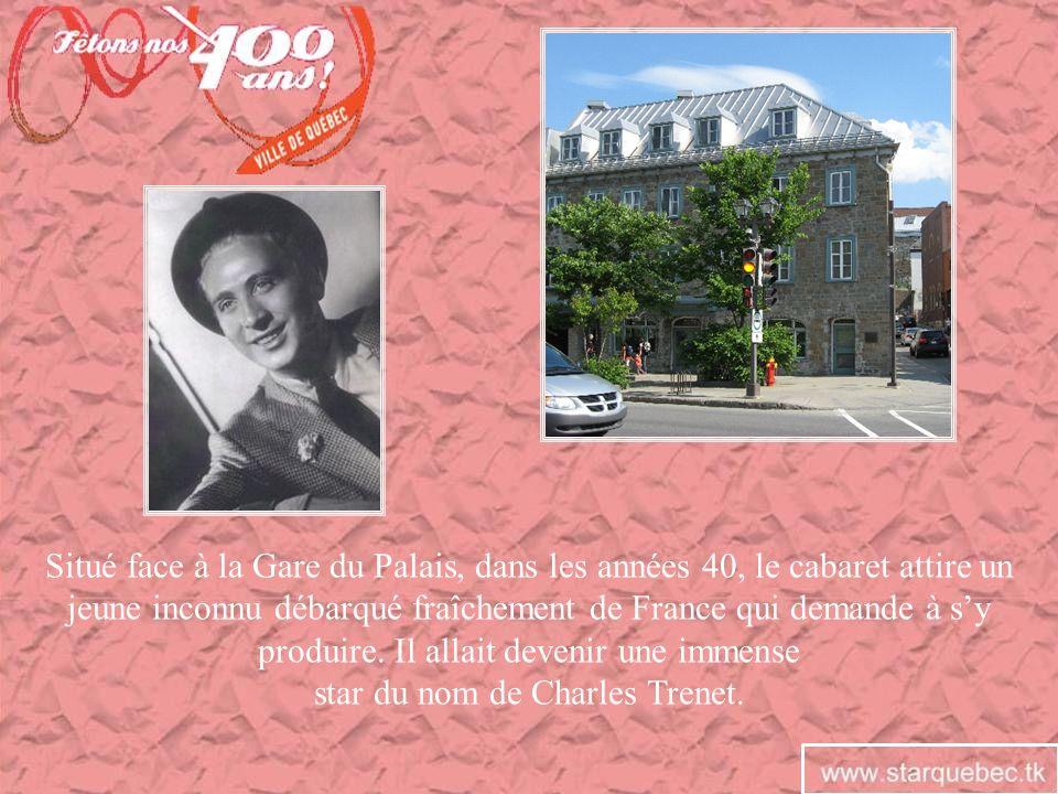 Situé face à la Gare du Palais, dans les années 40, le cabaret attire un jeune inconnu débarqué fraîchement de France qui demande à sy produire. Il al