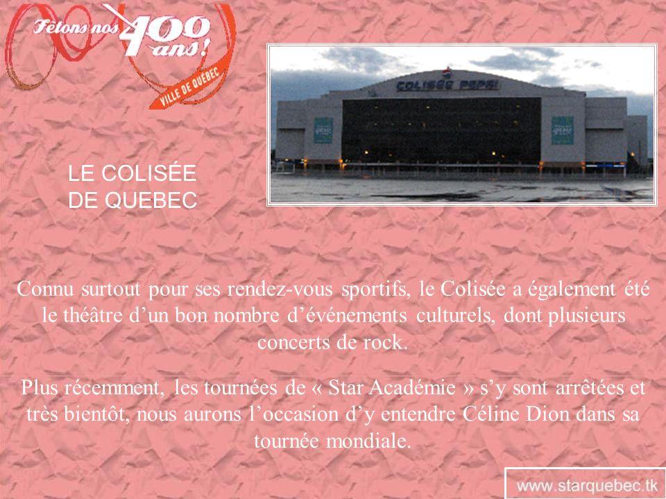 Connu surtout pour ses rendez-vous sportifs, le Colisée a également été le théâtre dun bon nombre dévénements culturels, dont plusieurs concerts de ro
