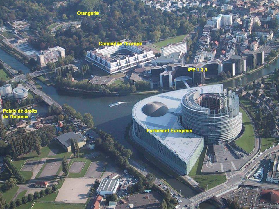 Parlement Européen Conseil de lEurope IPE 1 2 3 Orangerie Palais de droits de lhomme