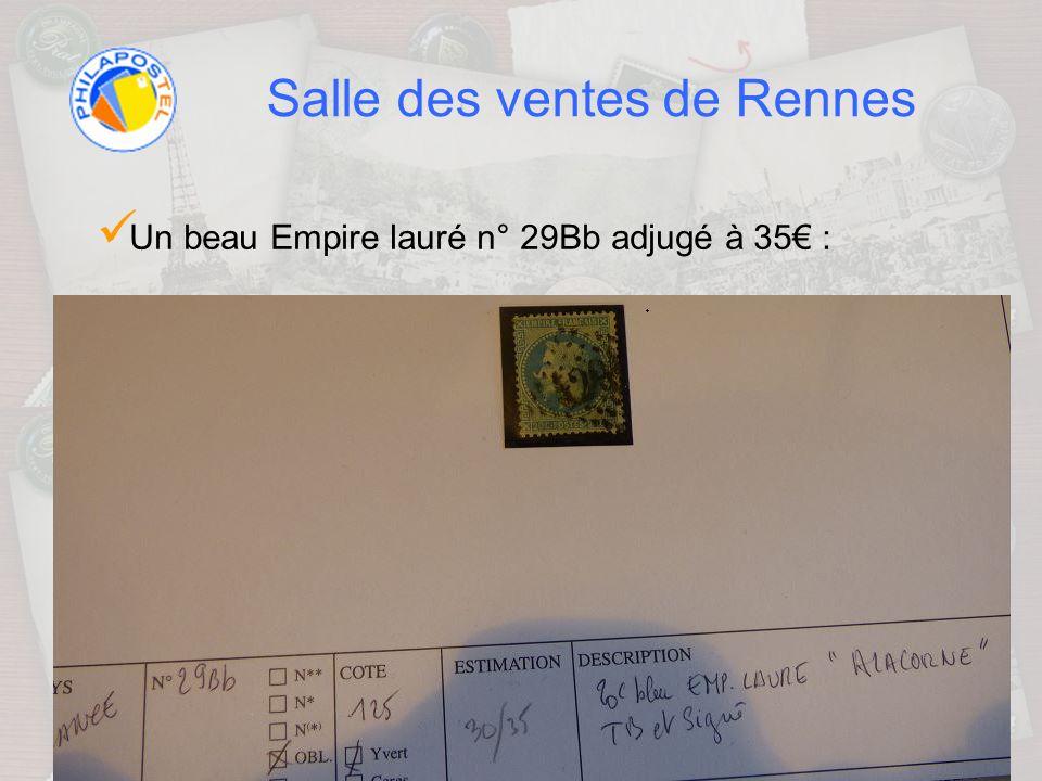 Salle des ventes de Rennes Un beau Empire lauré n° 29Bb adjugé à 35 :