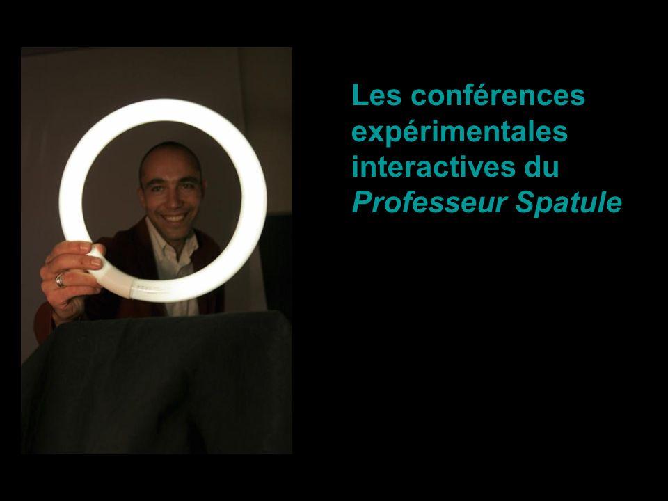 Les conférences expérimentales interactives du Professeur Spatule