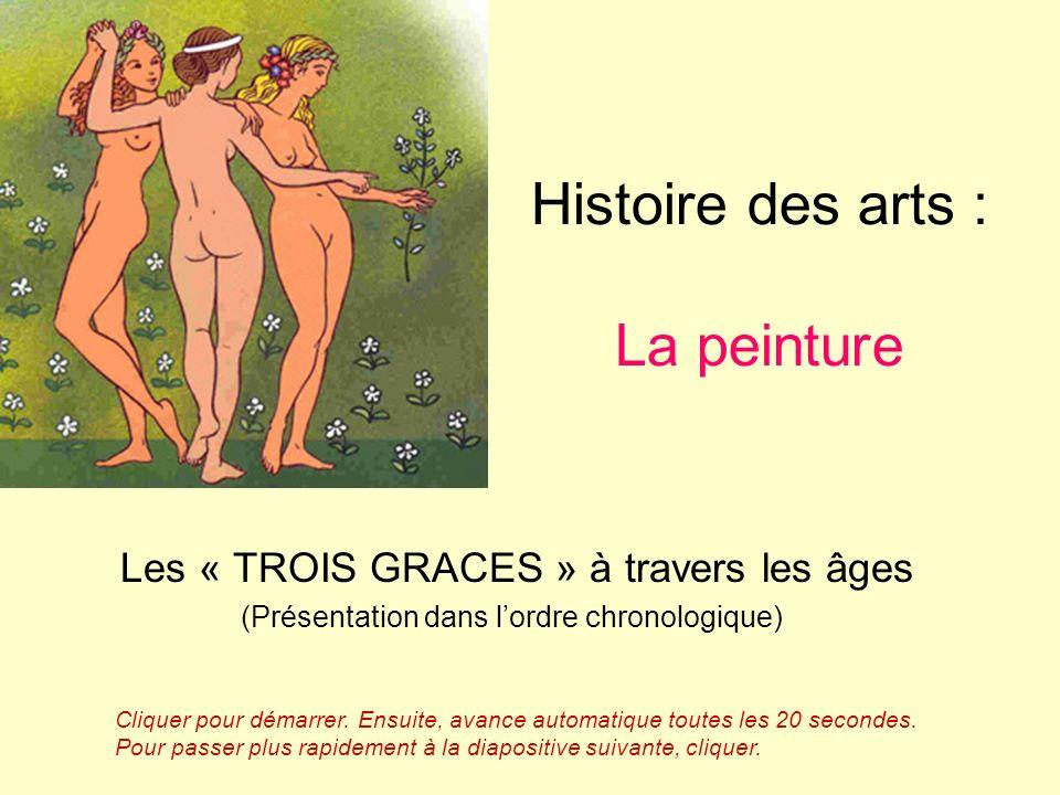 Histoire des arts : La peinture Les « TROIS GRACES » à travers les âges (Présentation dans lordre chronologique) Cliquer pour démarrer.