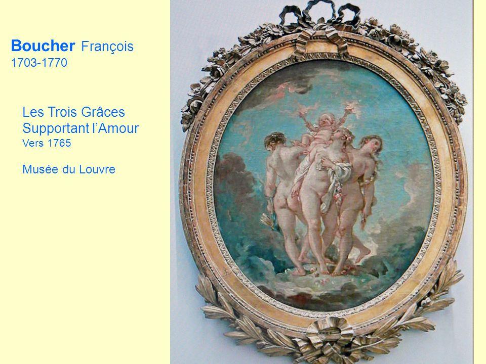 Supportant lAmour Vers 1765 Musée du Louvre Boucher François 1703-1770