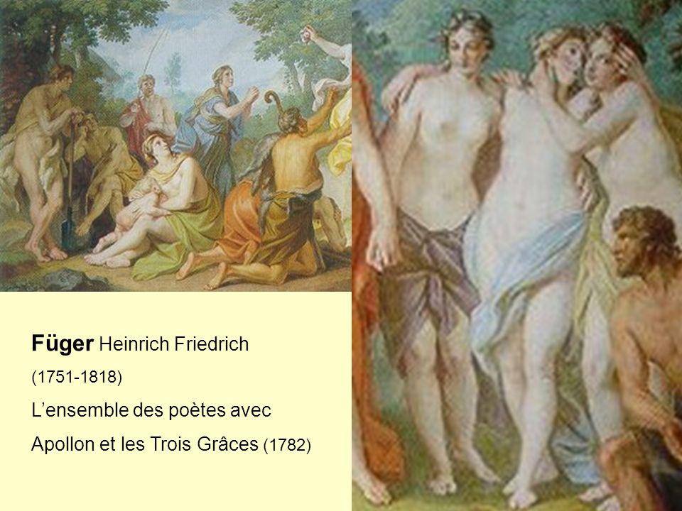 Füger Heinrich Friedrich (1751-1818) Lensemble des poètes avec Apollon et les Trois Grâces (1782)
