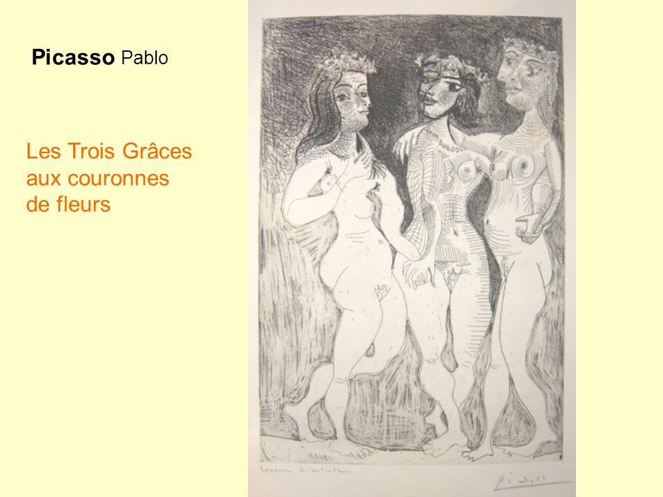 Picasso Pablo Les Trois Grâces aux couronnes de fleurs