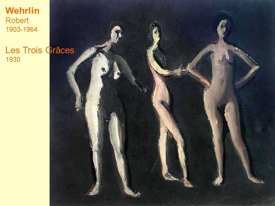 Wehrlin Robert 1903-1964 Les Trois Grâces 1930