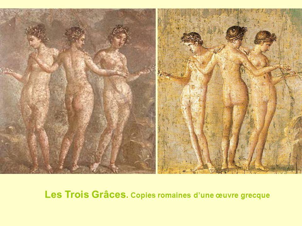Les Trois Grâces. Copies romaines dune œuvre grecque