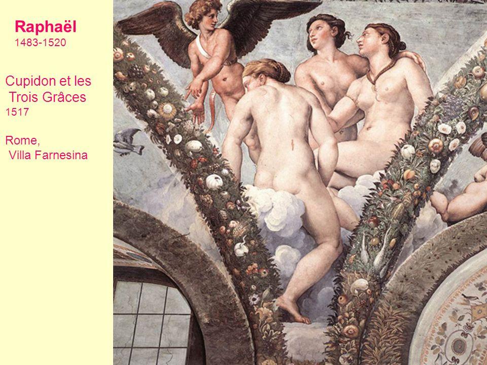 Raphaël 1483-1520 Cupidon et les Trois Grâces 1517 Rome, Villa Farnesina