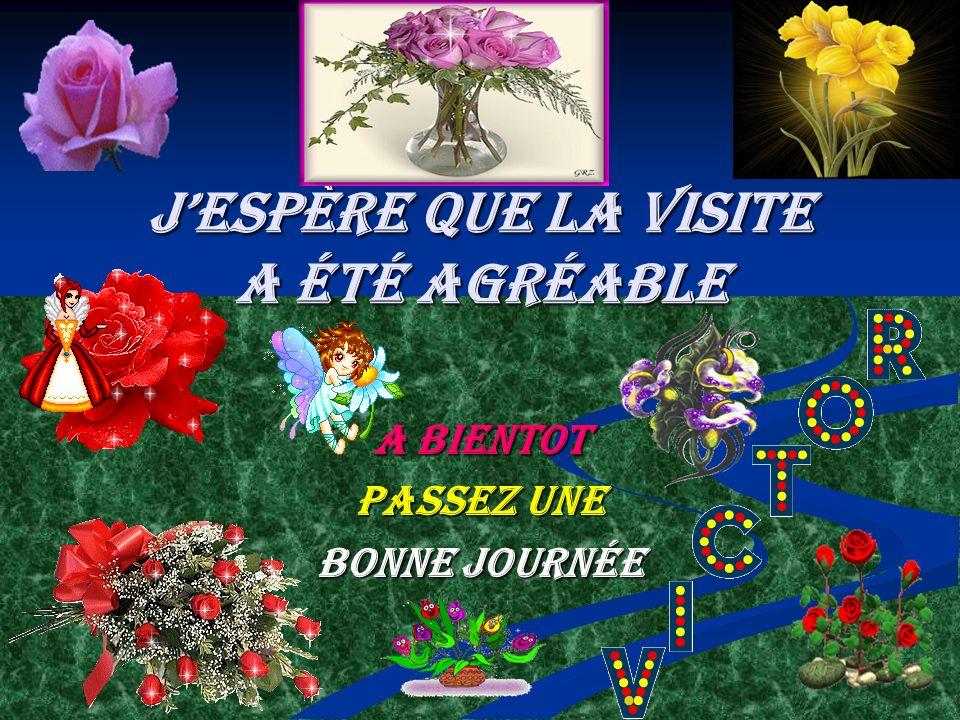 Jespère que la visite a été agréable A bientot Passez une Bonne journée