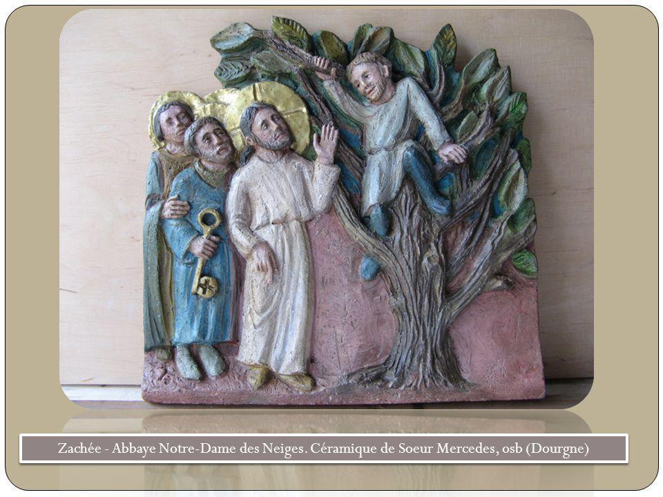 Zachée - Abbaye Notre-Dame des Neiges. Céramique de Soeur Mercedes, osb (Dourgne)