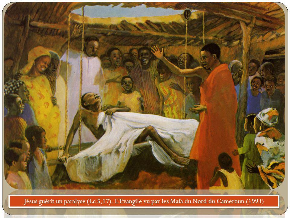 Jésus guérit un paralysé (Lc 5,17). L'Evangile vu par les Mafa du Nord du Cameroun (1993)