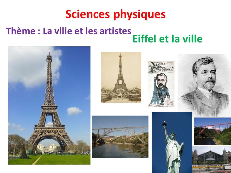 Sciences physiques Thème : La ville et les artistes Eiffel et la ville