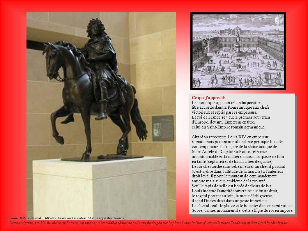 Ce que j'apprends Le monarque apparaît tel un imperator, titre accordé dans la Rome antique aux chefs victorieux et repris par les empereurs. Le roi d