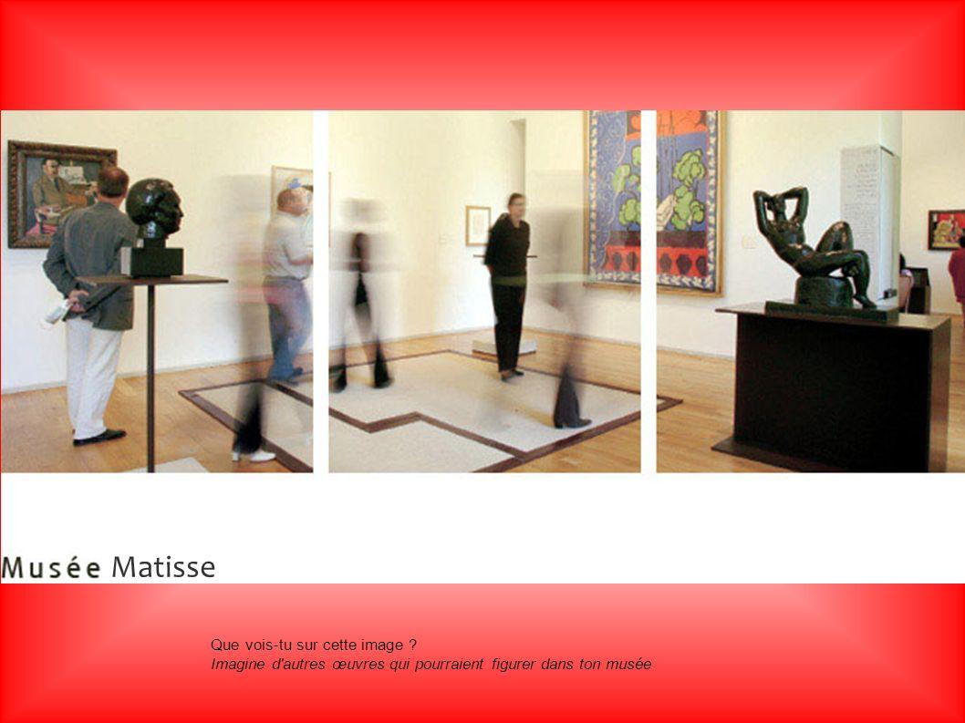 Que vois-tu sur cette image ? Imagine d'autres œuvres qui pourraient figurer dans ton musée Matisse