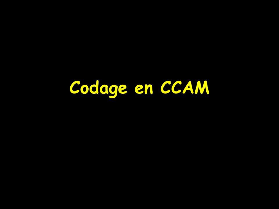 Codage en CCAM