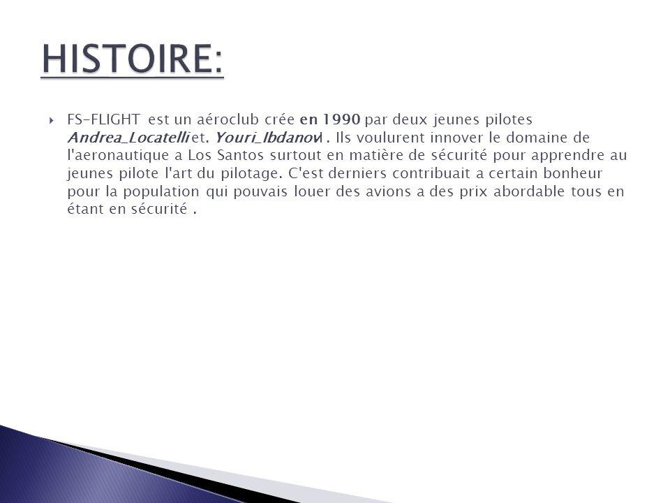 FS-FLIGHT est un aéroclub crée en 1990 par deux jeunes pilotes Andrea_Locatelli et.