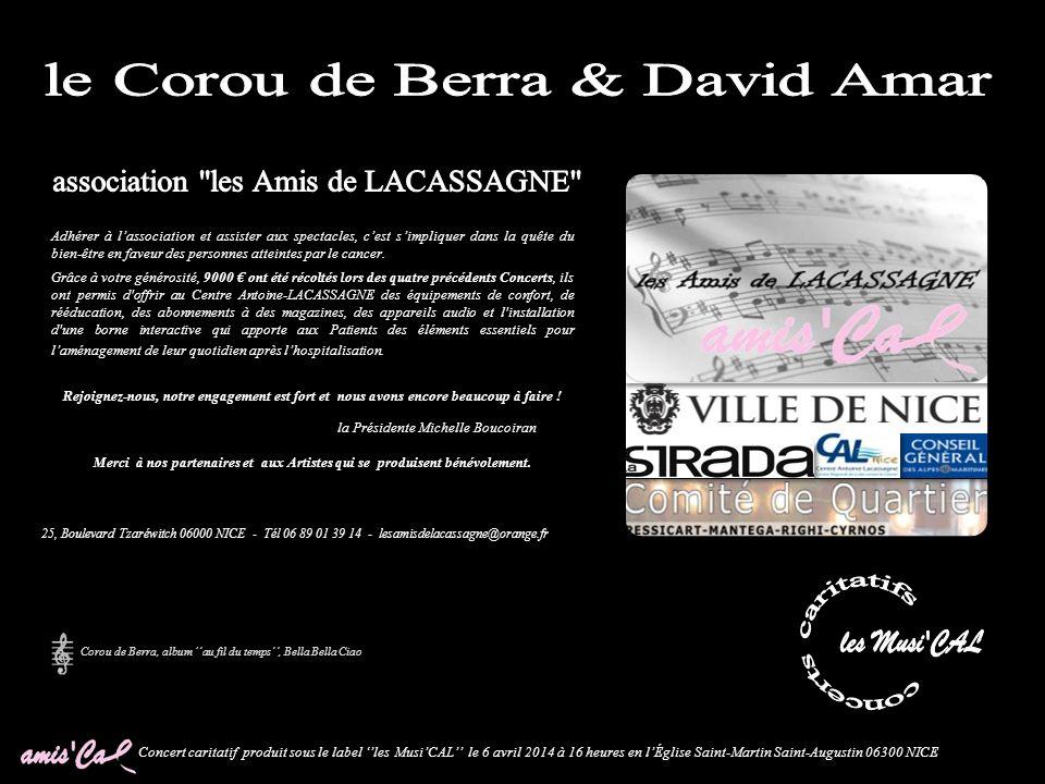 Concert caritatif produit sous le label les MusiCAL le 6 avril 2014 à 16 heures en lÉglise Saint-Martin Saint-Augustin 06300 NICE Nouvé de la Coulougn