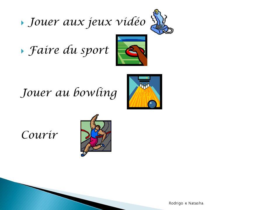 Jouer aux jeux vidéo Faire du sport Jouer au bowling Courir Rodrigo e Natasha