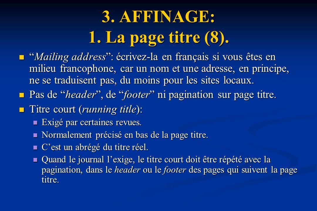 3.AFFINAGE: 1. La page titre (8).