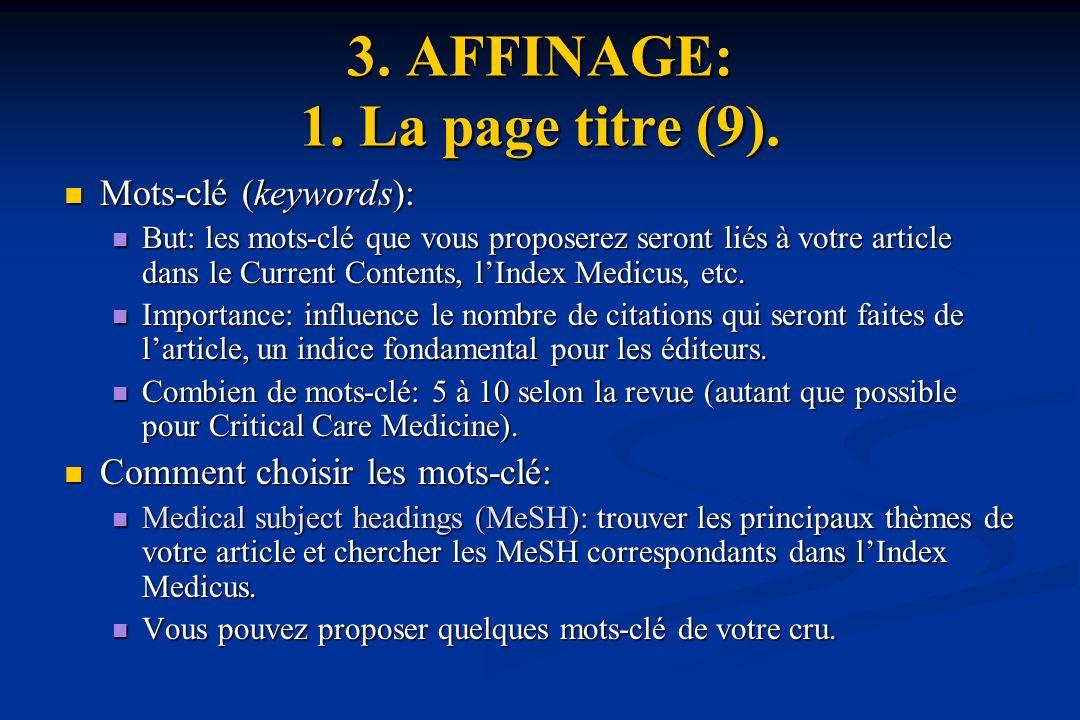 3.AFFINAGE: 1. La page titre (9).