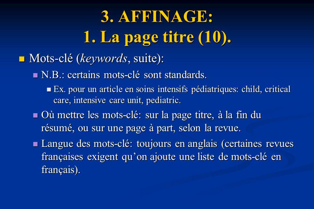 3.AFFINAGE: 1. La page titre (10).