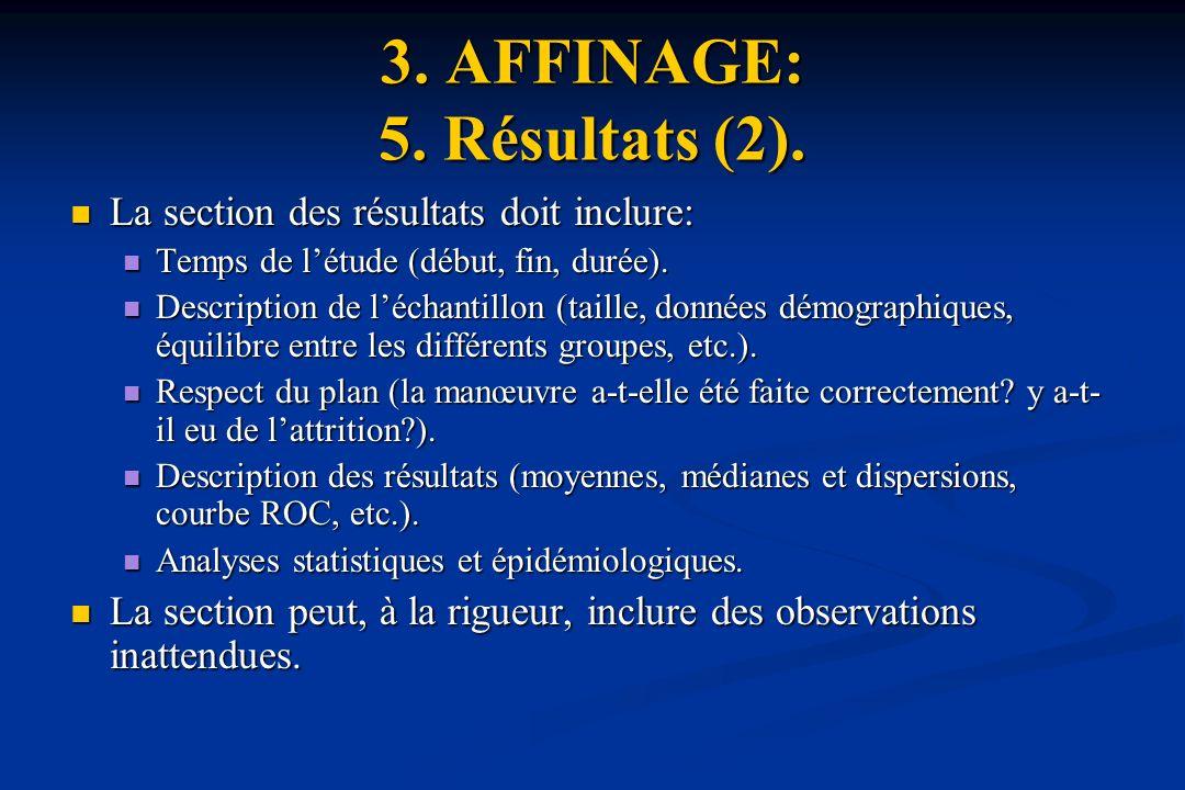 3.AFFINAGE: 5. Résultats (2).