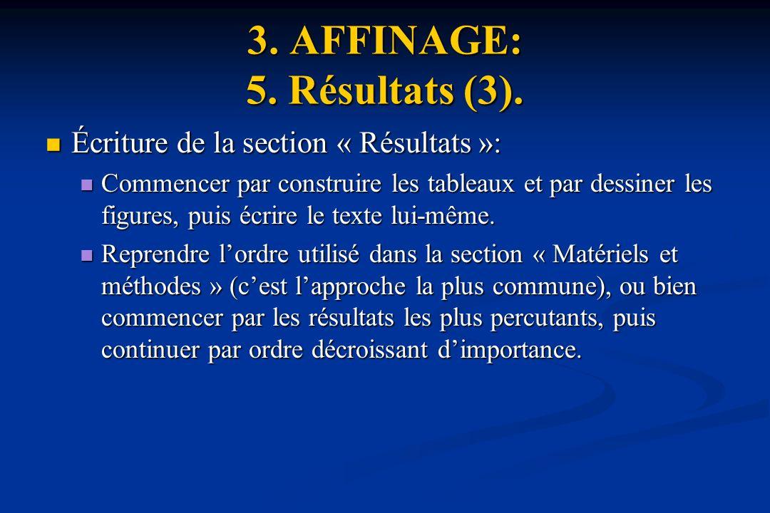 3.AFFINAGE: 5. Résultats (3).
