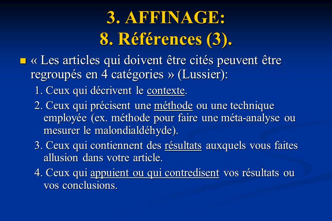 3.AFFINAGE: 8. Références (3).