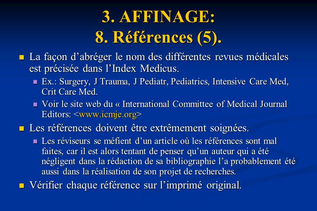 3.AFFINAGE: 8. Références (5).