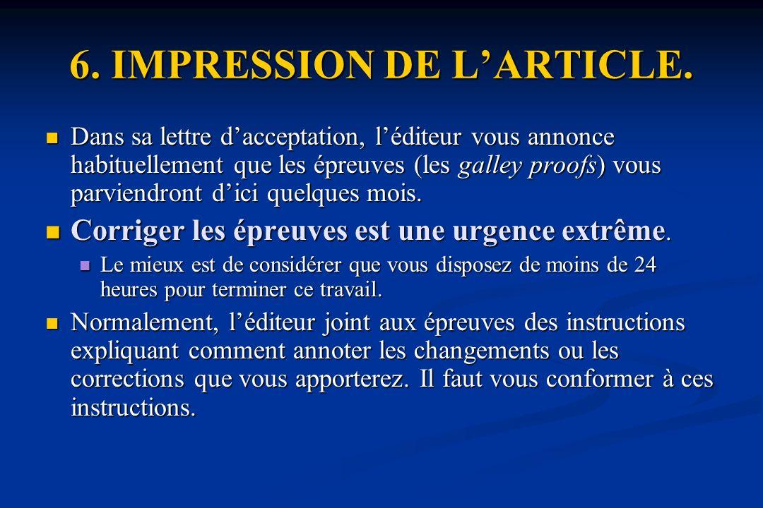 6.IMPRESSION DE LARTICLE.