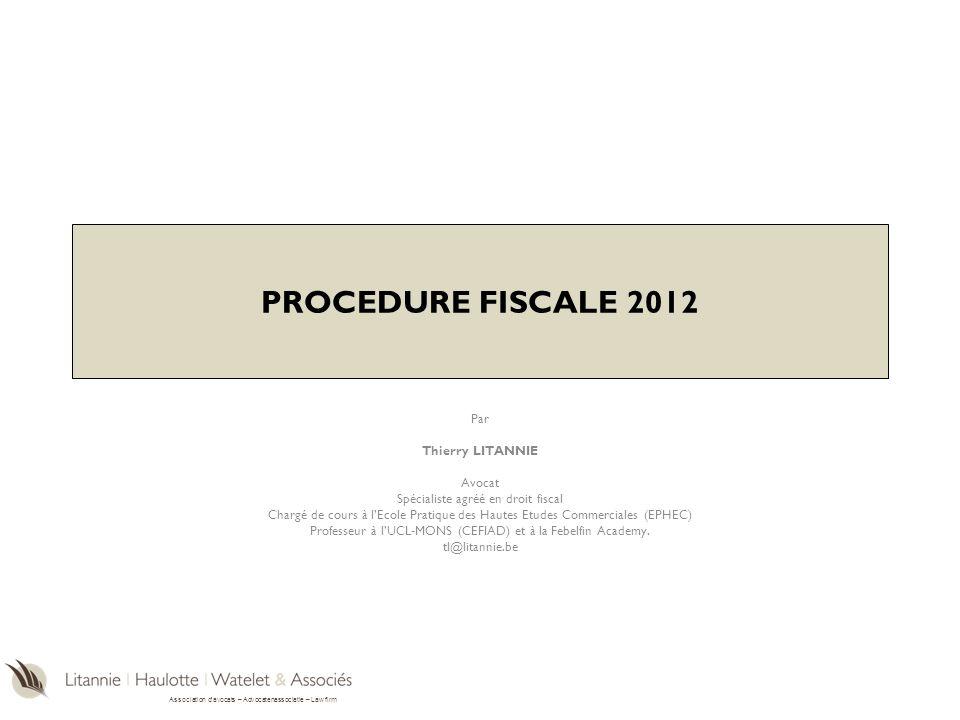 Association davocats – Advocatenassociatie – Law firm Agenda I.