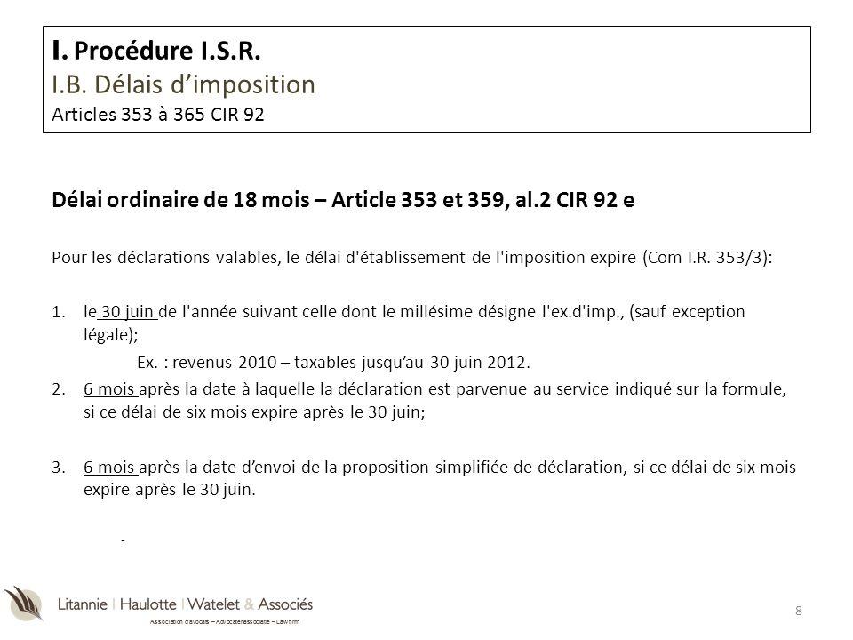 Association davocats – Advocatenassociatie – Law firm I.A.2.