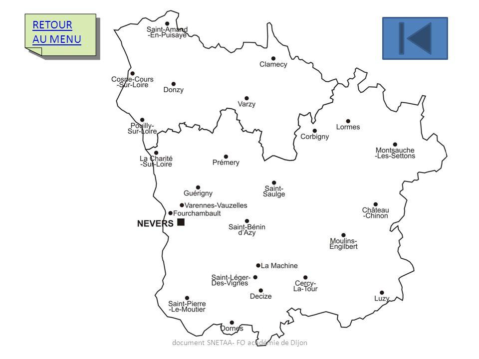 RETOUR AU MENU RETOUR AU MENU document SNETAA- FO académie de Dijon