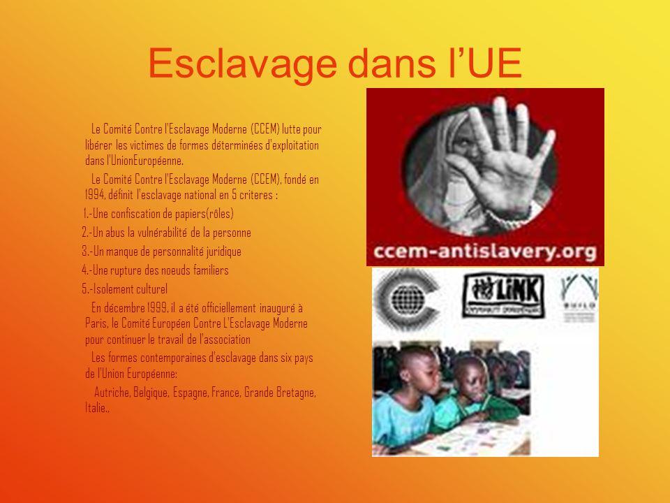 Esclavage dans lUE Le Comité Contre l'Esclavage Moderne (CCEM) lutte pour libérer les victimes de formes déterminées d'exploitation dans l'UnionEuropé