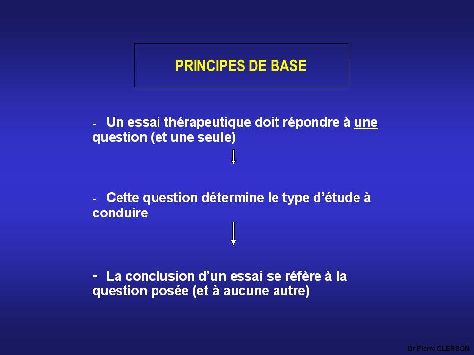 PRINCIPES DE BASE Dr Pierre CLERSON