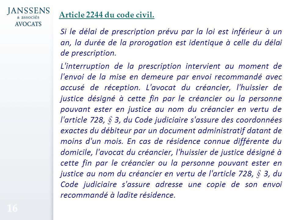 Article 2244 du code civil.