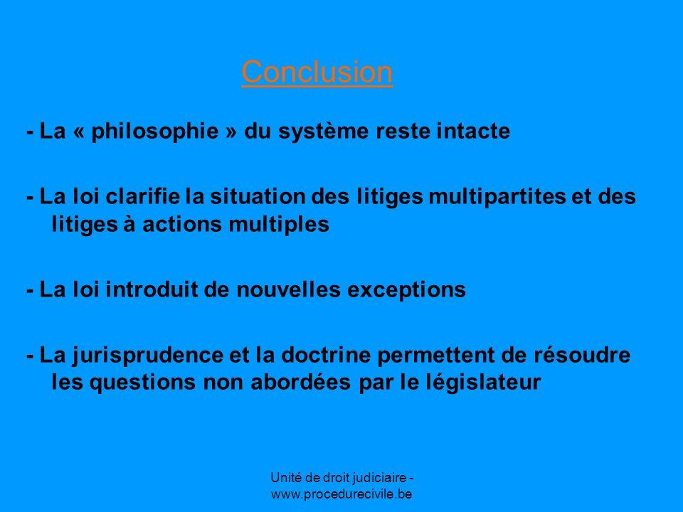 Unité de droit judiciaire - www.procedurecivile.be Le nouvel article 1022 C.