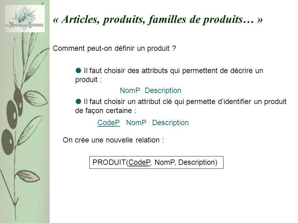 « Articles, produits, familles de produits… » Comment peut-on définir un produit ? Il faut choisir des attributs qui permettent de décrire un produit