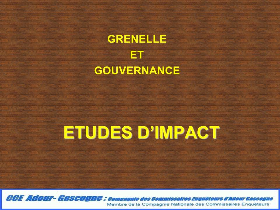 ETUDES DIMPACT GRENELLE ET GOUVERNANCE