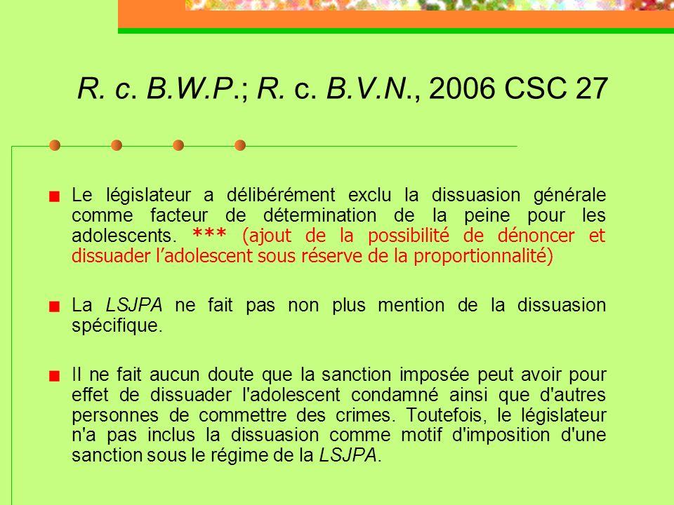 R. c. D.B., 2008 CSC 25 (suite) Les articles 38 et 39 limitent les cas où le placement sous garde peut être ordonné: aucune mesure de rechange possibl