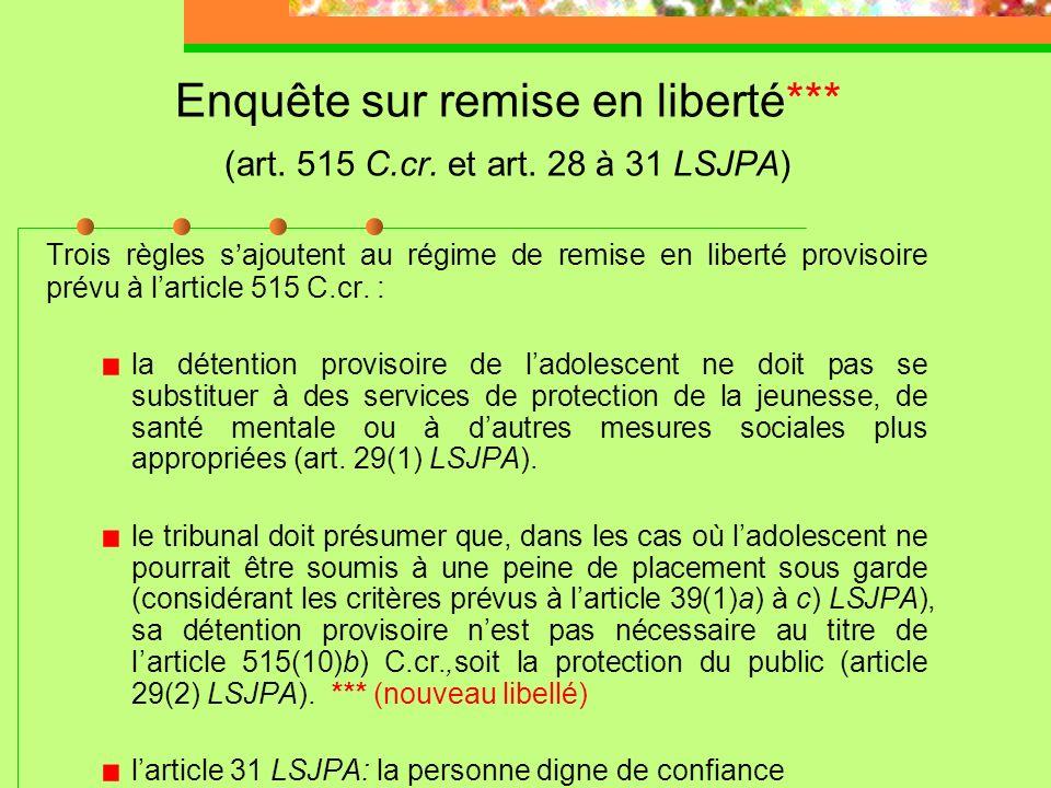 R. c. R.C., 2005 CSC 61 (suite) Leffet de lordonnance sur le droit de lindividu à la vie privée est important, car il renferme des renseignements pers